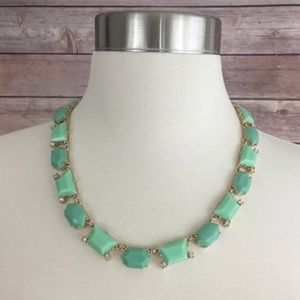 J. Crew Factory Green & Gold Necklace